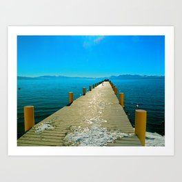 Tahoe Dock Art Print