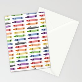 Subs and Crayons Stationery Cards