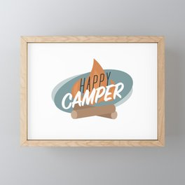 Happy Camper Framed Mini Art Print