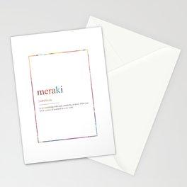 MERAKI 397 Watercolor Map Yoga Quote Definition De Stationery Cards