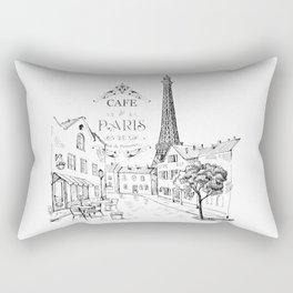 Cafe Paris Rectangular Pillow