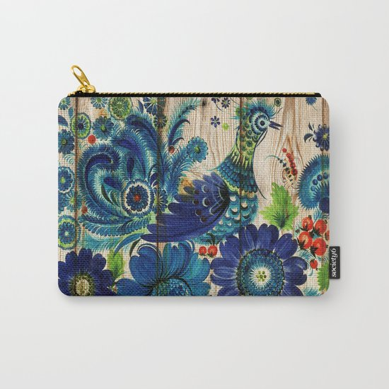Russian Folk Art on Wood 02 Carry-All Pouch