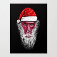 Santa Monkey Canvas Print