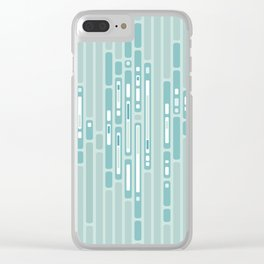 Ocean Reflection – Blue / Teal Midcentury Abstract Clear iPhone Case