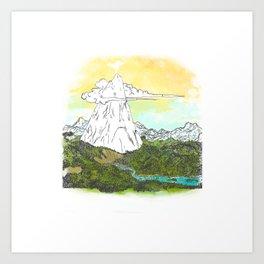 Ol' Lonely Mtn Art Print
