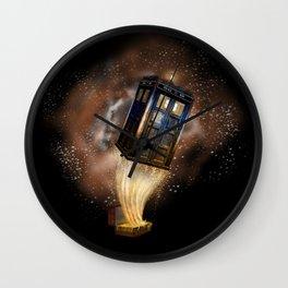 Fantastic tardis doctor who mashup with fantastic Bag  iPhone, ipod, ipad, pillow case and tshirt Wall Clock