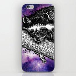 Galaxy Raccoon iPhone Skin