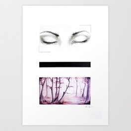 There. Art Print
