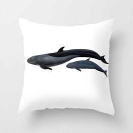 False killer whale Throw Pillow