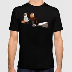 Assault and Battery Love Story. MEDIUM Mens Fitted Tee Black