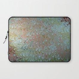 Soft Seaweed Water Marbling Laptop Sleeve