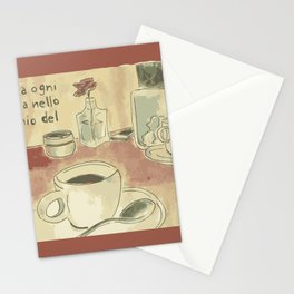 coffee by Laura Pizzicalaluna  Stationery Cards