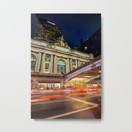 Rainy night at Grand Central Terminal 2019 vertical version Metal Print