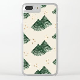 Whimsical Fir Tree Clear iPhone Case