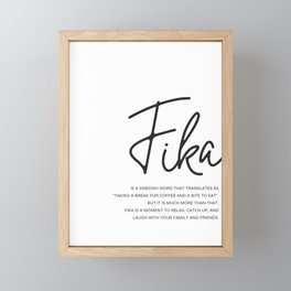 Fika Love Definition Framed Mini Art Print