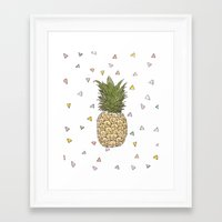 pinapple Framed Art Prints featuring Pinapple by surfed