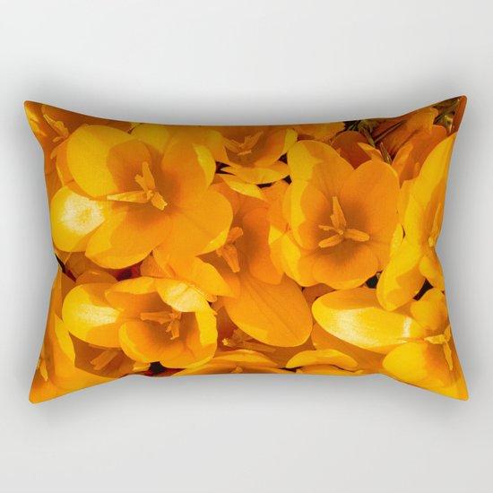 Gold in the garden Rectangular Pillow