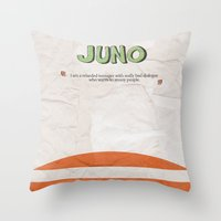 movie poster Throw Pillows featuring Juno - Alternative Movie Poster by Stefanoreves