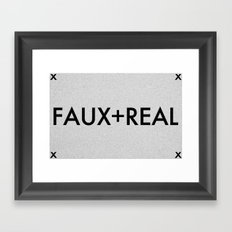 Faux-Real Framed Art Print