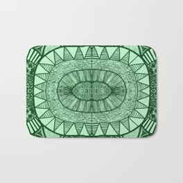 Grassy Green Tangled Mania Pattern Doodle Design Bath Mat