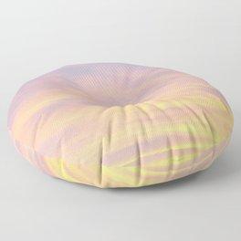 Blue Rose Yellow Sunrise Floor Pillow