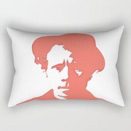 Tom Waits in Red Rectangular Pillow