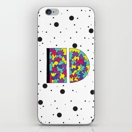 Letter D iPhone Skin