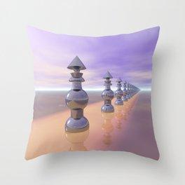 Conical Geometric Progression Throw Pillow