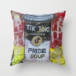 Pride Soup Preserves Throw Pillow