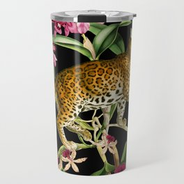 Leopard black Travel Mug