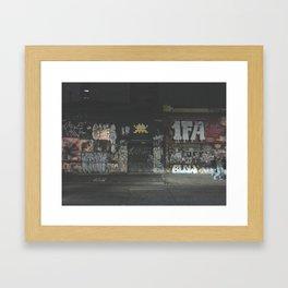 rua augusta, at night Framed Art Print