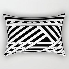 Black and white binding Rectangular Pillow