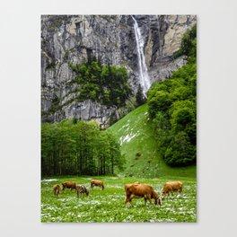 Life in Lauterbrunnen Canvas Print
