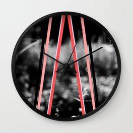 garden stripes Wall Clock