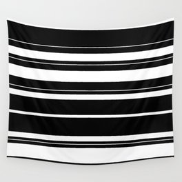 Black And White Stripes Wall Tapestry