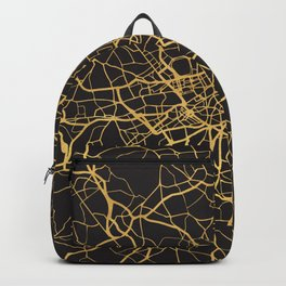 LONDON ENGLAND GOLD ON BLACK CITY MAP Backpack