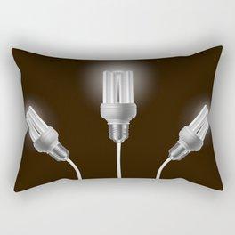 Energy saving bulbs with cords Rectangular Pillow