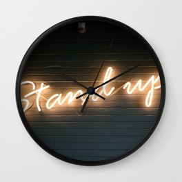 Stand Up Sign Wall Clock