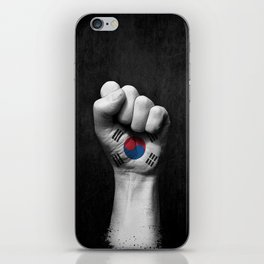 South Korean Flag on a Raised Clenched Fist iPhone Skin