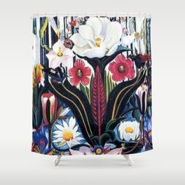 Italians Wildflowers by Joseph Stella Shower Curtain