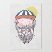 beard Canvas Prints featuring BEARD by Nazario Graziano