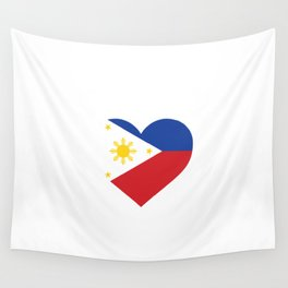 Philippines  love flag heart designs  Wall Tapestry