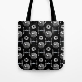 Empire ships pattern, death, star, dark side, movies, 80s Tote Bag