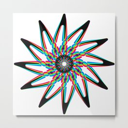 Edelweiss - White Metal Print