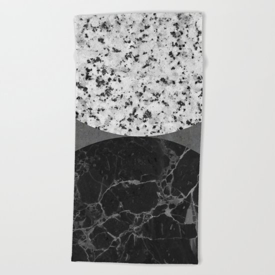 Marble, Granite, Concrete Abstract Beach Towel