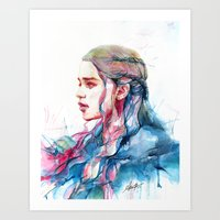alicexz Art Prints featuring Dragonqueen by Alice X. Zhang