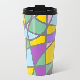 Stain Glass Abstract Meditation Easter Painting Travel Mug
