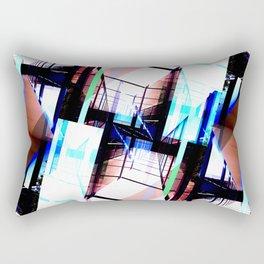 Blue & Pink Cristal Light Rectangular Pillow