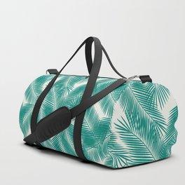 Green Tropical Palm Leaves Duffle Bag
