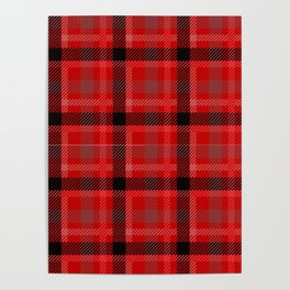 Red And Black Plaid Flannel Poster